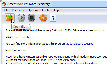 Lifehack: Crack the rest of RAR password if only half is readable