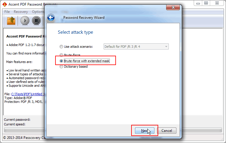 pdf password brute force
