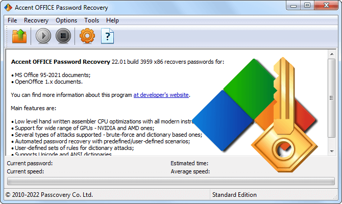 Accent OFFICE Password Recovery by Passcovery for Microsoft Office and OpenOffice/LibreOffice