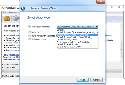 Configurable Attack Scenarios in Accent RAR Password Recovery
